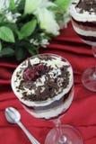 Torta del dessert della foresta nera Fotografie Stock