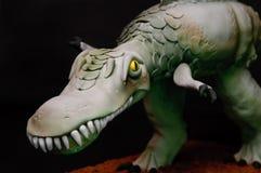 Torta del dinosauro Fotografia Stock