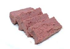 Torta del fegato della carne di maiale su fondo bianco immagini stock libere da diritti