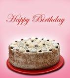 Torta del feliz cumpleaños Imagenes de archivo