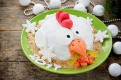 Torta del gallo de la torta del gallo, torta de la gallina, torta del pollo, torta del pájaro - FE Foto de archivo libre de regalías