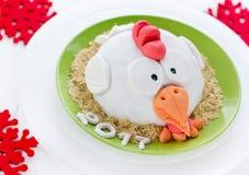 Torta del gallo de la torta del gallo, torta de la gallina, torta del pollo, torta del pájaro - FE Fotografía de archivo libre de regalías