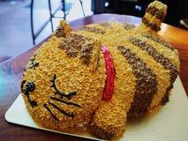 Torta del gato Imágenes de archivo libres de regalías