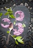 Torta del helado del arándano Fotografía de archivo libre de regalías