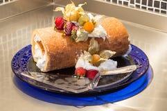Torta del helado del rollo Foto de archivo