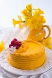 Torta del licor del huevo Fotos de archivo libres de regalías