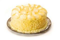 Torta del limón fotografía de archivo