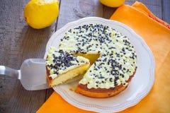 Torta del limón Foto de archivo libre de regalías