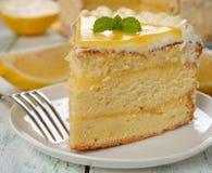 Torta del limón Foto de archivo