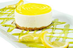Torta del limón Fotos de archivo libres de regalías