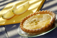 Torta del limón Imágenes de archivo libres de regalías