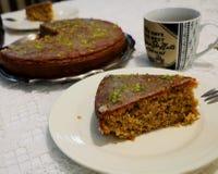 Torta del limón por una tarde Foto de archivo libre de regalías