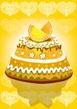 Torta del limone Fotografia Stock