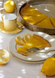 Torta del limone Fotografie Stock Libere da Diritti
