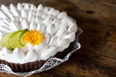 Torta del limone Fotografia Stock Libera da Diritti