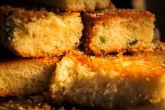Torta del marrón amarillento también conocida como mollete Fotografía de archivo libre de regalías