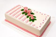 Torta del marzapane di compleanno Fotografia Stock
