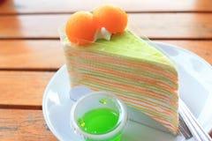 Torta del melón Fotos de archivo