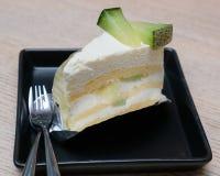 Torta del melón en plato Imagen de archivo