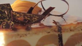 Torta del melocotón almacen de video