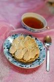 Torta del merengue de la porción Imagen de archivo libre de regalías