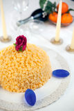 Torta del Mimosa Immagine Stock