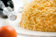 Torta del Mimosa Imagen de archivo libre de regalías