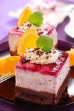 Torta del mirtillo Fotografia Stock