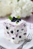 Torta del mirtillo con crema acida Fotografie Stock