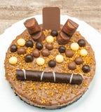 Torta del mousse de chocolate foto de archivo