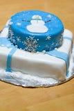 Torta del muñeco de nieve imágenes de archivo libres de regalías