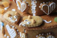 torta del pan de jengibre del cumpleaños Imagen de archivo