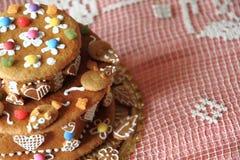 torta del pan de jengibre del cumpleaños Fotografía de archivo