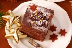 Torta del pan de jengibre de la Navidad Foto de archivo