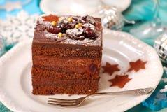 Torta del pan de jengibre de la Navidad Imagenes de archivo