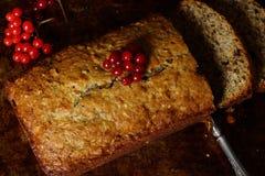 Torta del pan de plátano fotografía de archivo