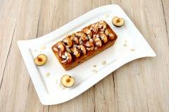 Torta del pan del ciruelo y de la almendra Foto de archivo libre de regalías