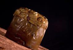Torta del panettone del chocolate Imagen de archivo