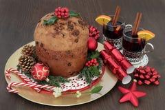 Torta del panettone del chocolate de la Navidad Foto de archivo