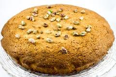 Torta del pistacho Foto de archivo libre de regalías