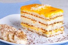 Torta del plátano Imagenes de archivo