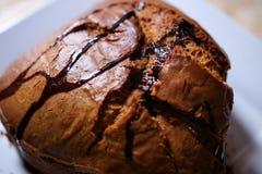 Torta del plátano de Spungy foto de archivo libre de regalías
