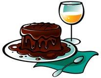 Torta del pudding di cioccolato Immagini Stock Libere da Diritti