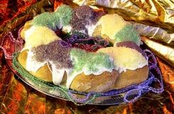 Torta del re di Mardi Gras Fotografia Stock