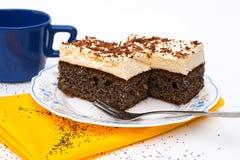 torta del seme del Limone-papavero Fotografie Stock Libere da Diritti
