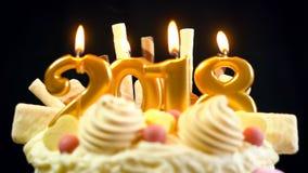 Torta del showstopper de la Feliz Año Nuevo 2018 Imagenes de archivo