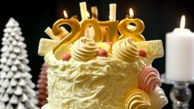 Torta del showstopper de la Feliz Año Nuevo 2018 Imagen de archivo