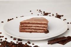 Torta del sudor con el chocolate Imágenes de archivo libres de regalías