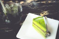 Torta del tè verde Immagini Stock