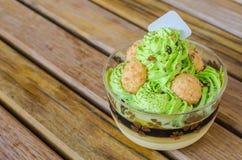 Torta del té verde Fotografía de archivo
